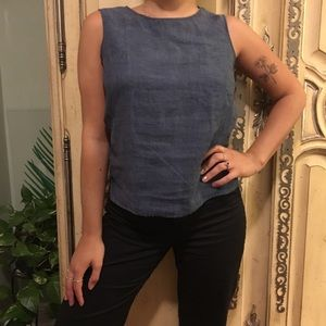 Versatile denim colored top from Finity